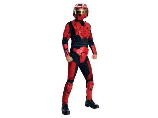 Halo Deluxe Red Spartan Jumpsuit Costume Adult One Size Fits Most Up To 44