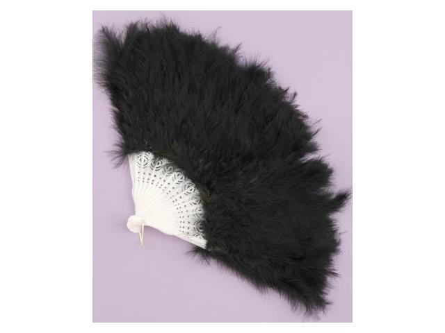 Black Feather Costume Fan