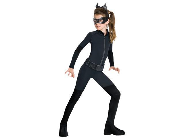 Catwoman Costume Jumpsuit Tween Small 4-6