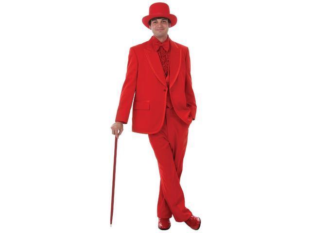 Men's Formal Red Costume Tuxedo Adult X-Large