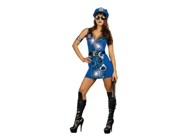 Sexy Private Patrol Cop Costume Dress Adult Large
