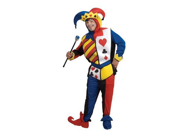 Playing Card Joker Jester Deluxe Costume Adult Large