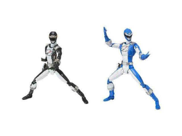 Power Rangers Operation Overdrive Black And Blue Ranger Figure Set
