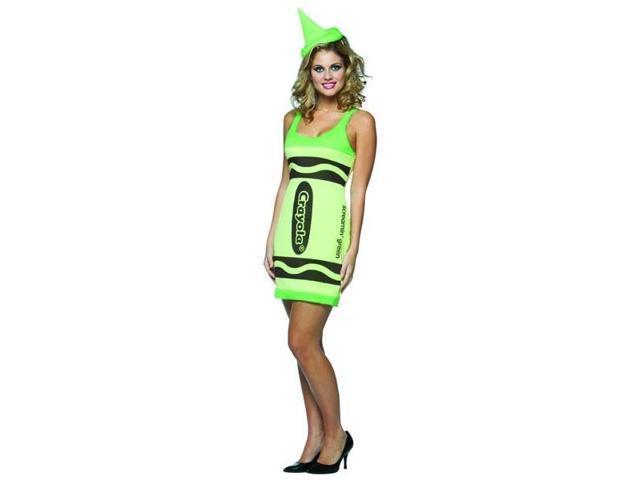 Screamin' Green Crayola Crayon Tank Dress Costume Adult Standard