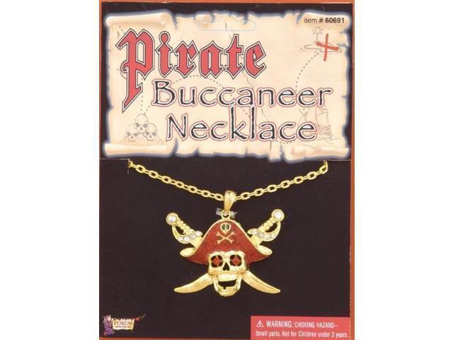 Buccaneer Glitter Costume Necklace