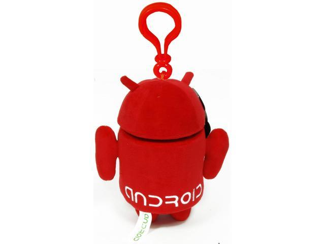 "Android 3.5"" Plush Backpack Clip On: Red"