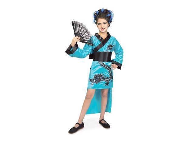 Teal Dragon Girl Child Costume Small