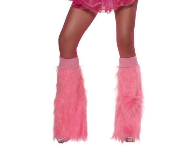 Pink Neon Furry Costume Accessory Bootcovers