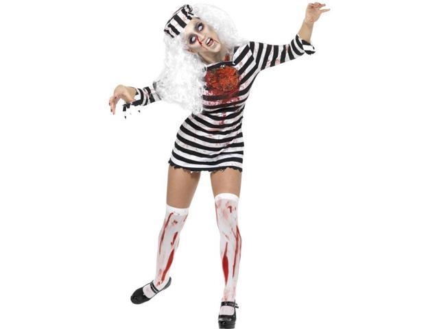 Zombie Convict Dress Adult Costume Small