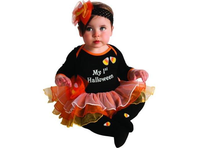 My First Halloween Candy Corn Tutu Onesie Costume Infant