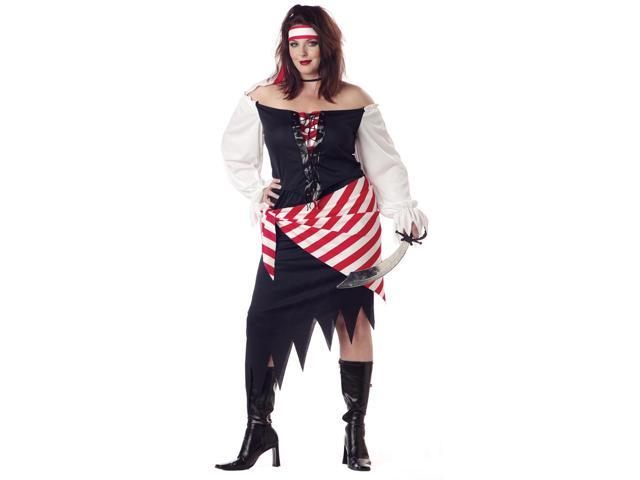 Ruby The Pirate Wench Beauty Costume Adult Plus 18-20