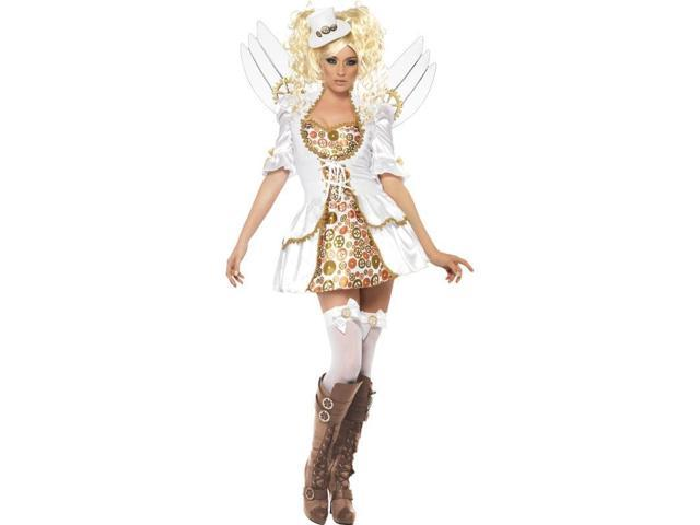 Steampunk Victorian Clockwork Angel Adult Costume Small