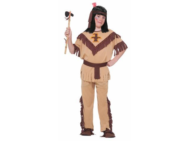 Native American Indian Brave Costume Child Large
