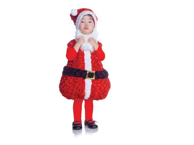 Belly Babies Holiday Santa Costume Child Toddler Large 2T-4T