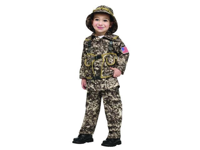 Desert Commando Camo Uniform Costume Child Toddler Small 4-6