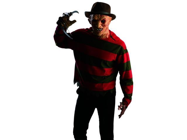 Nightmare On Elm Street Freddy Shirt And Mask Adult Costume X-Small