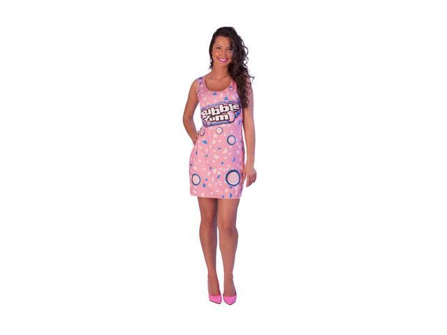 Bubble Yum Costume Original Adult Tank Dress Standard One Size Fits Most
