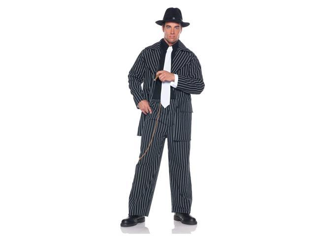 Gangster Pinstripe Zoot Suit Costume One Size Fits Most Standard