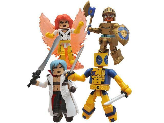 Marvel Vs. Capcom Minimates Box Set Of 4 2011 SDCC Exclusive