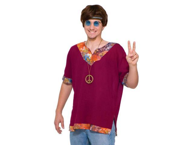 Groovy Hippie Costume Shirt Adult One Size Fits Most