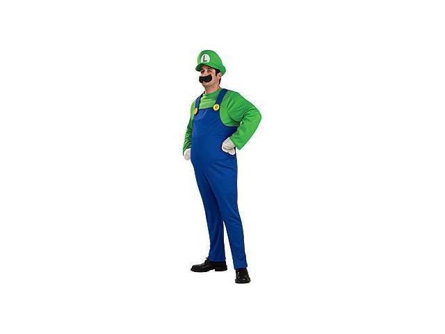 Super Mario Bros Deluxe Luigi Costume Adult Small