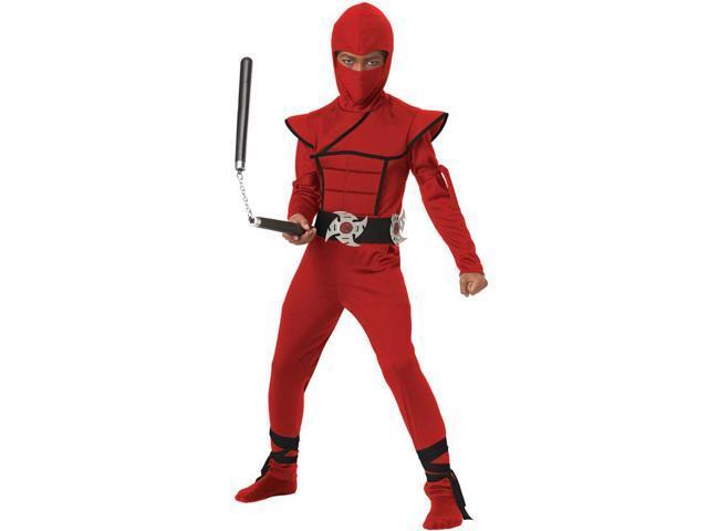 Stealth Ninja Costume Child: Red Medium