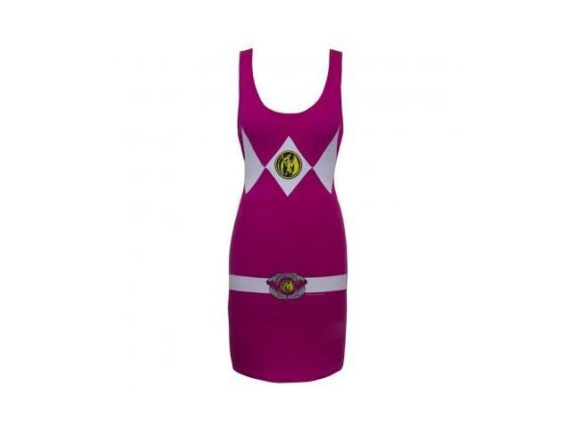 Power Rangers Pink Power Ranger Adult Tank Dress Large