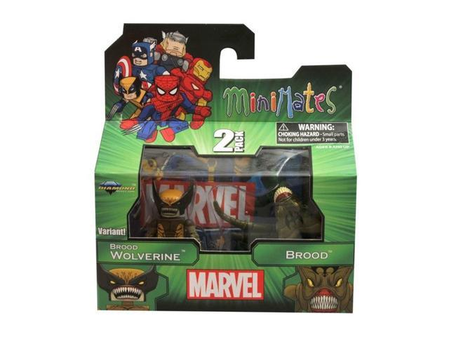 Marvel Minimates 47 Figure 2 Pack Variant Brood Wolverine & Brood