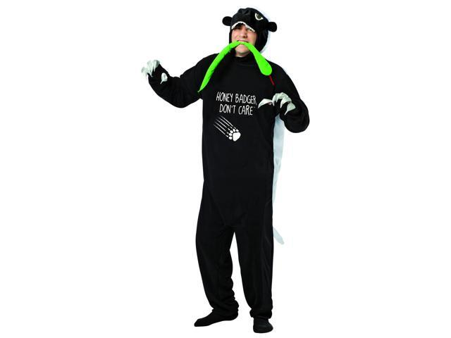 Honey Badger Costume Jumpsuit One Size Fits Most