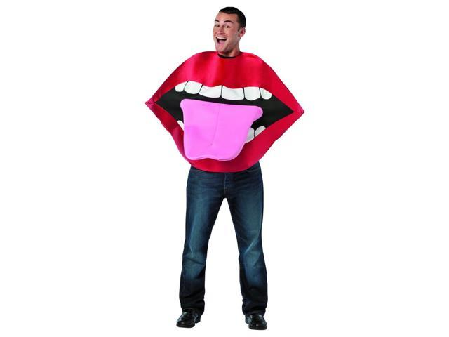 Funny Lips & Tongue Costume Adult One Size Fits Most