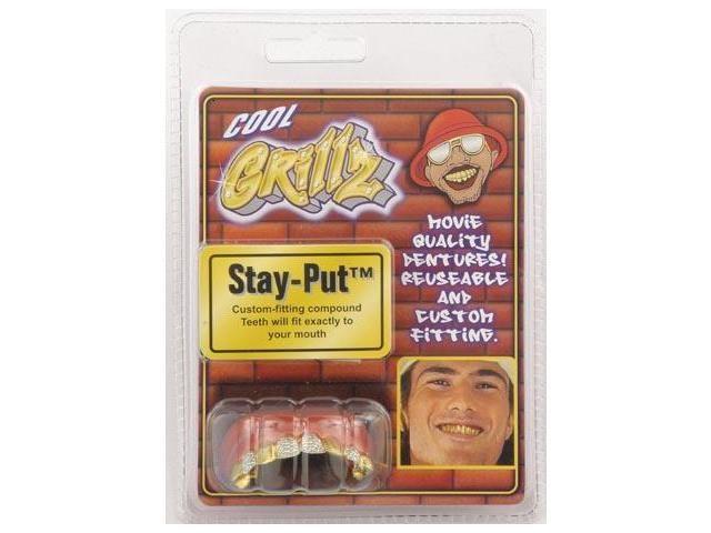 Cool Diamond Cut Grillz Teeth Costume Accessory