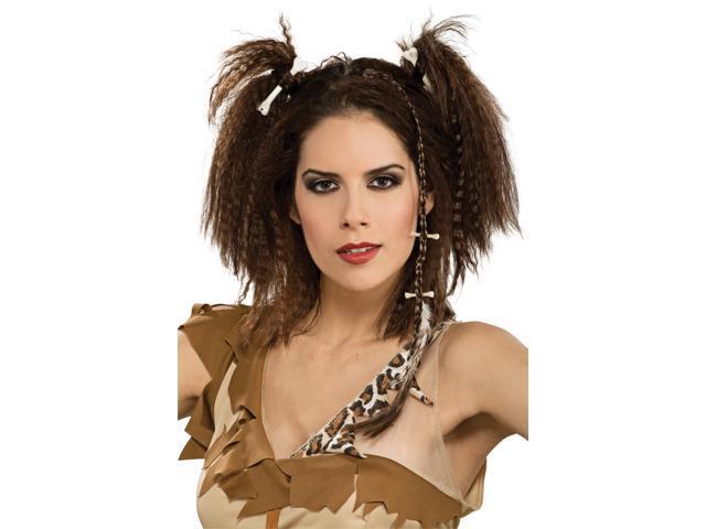 Caveman Woman Stone Age Barbarian Costume Hairpiece