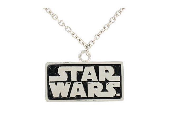 "Star Wars Logo Necklace Pendant 18"" Chain"