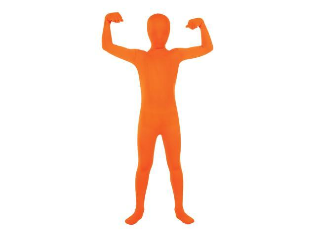 2nd Skin Suit Costume Child: Orange Medium