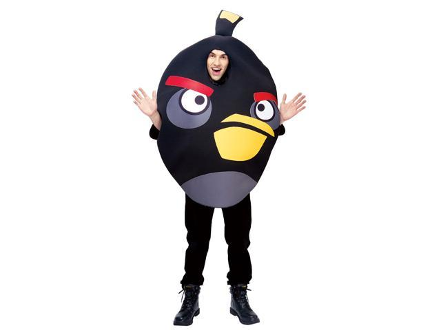 Angry Birds Black Bird Adult Costume One Size Fits Most