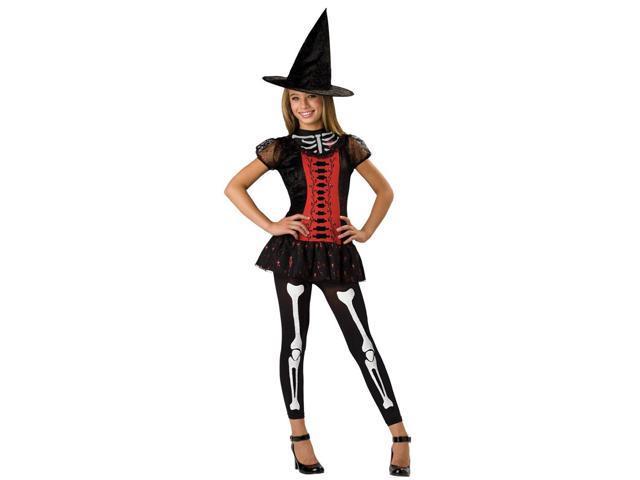 Lucky Witchbone Skeleton Girl Dress Designer Costume Child Medium 10-12