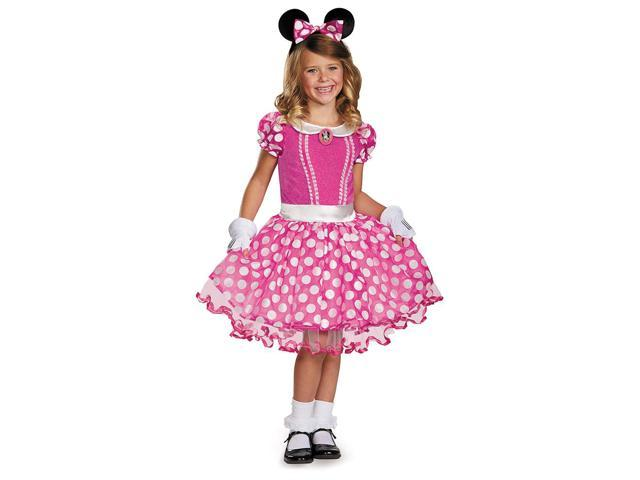 Mickey Mouse Clubhouse Disney Pink Minnie Tutu Prestige Child Costume 7-8