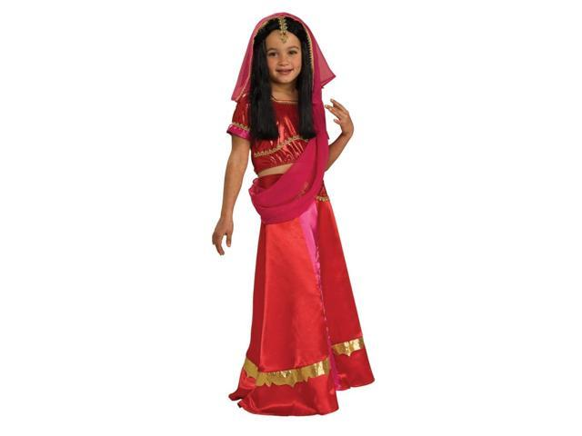 Bollywood Indian Princess Red Dress Costume Child Large
