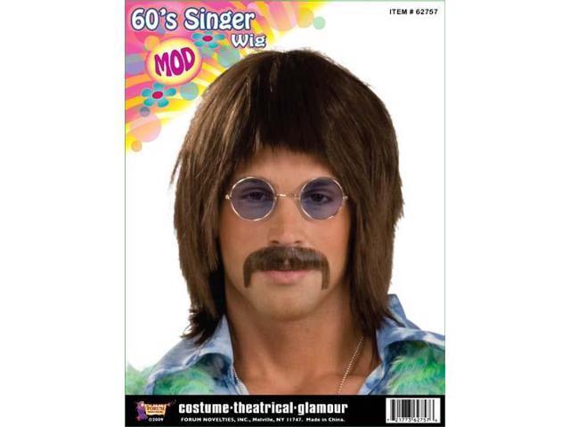 60's 70's Hippie Singer Costume Wig