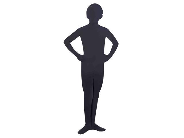 Invisible Man Child Costume Black Skin Suit Large