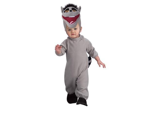 Penguins Of Madagascar King Julien Romper Costume Baby 0-6 Months