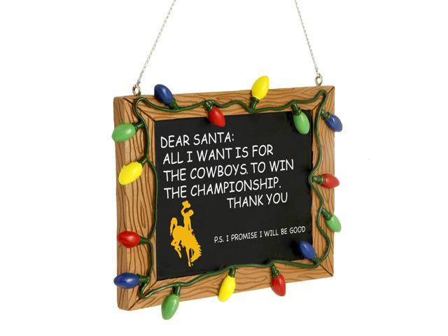 Wyoming Resin Chalkboard Sign Ornament
