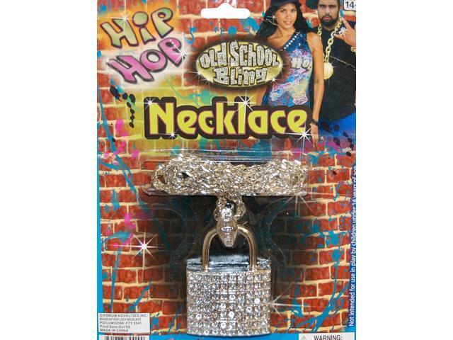 Hip Hop Lock Costume Necklace Accessory