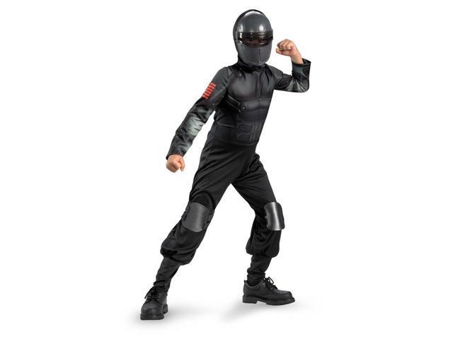 GI Joe Snake Eyes Classic Jumpsuit Costume Child Small 4-6
