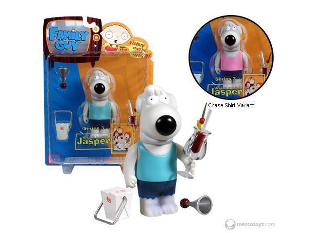 Family Guy Series 3 Action Figure - Jasper Variant - Pink Shirt