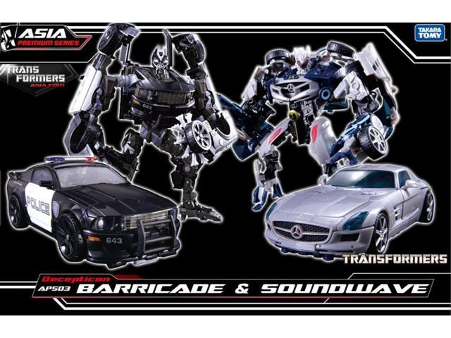 Transformers Asia Exclusive APS-03 Decepticon Barricade & Soundwave Two Pack
