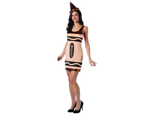 Crayola Bronze Tank Costume Dress Adult 4-10