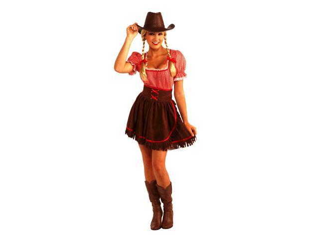 Cowgirl Cowpoke Cutie Costume Dress w/Corset Adult Standard