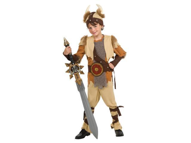 Viking Warrior Deluxe Costume Child Small 4-6