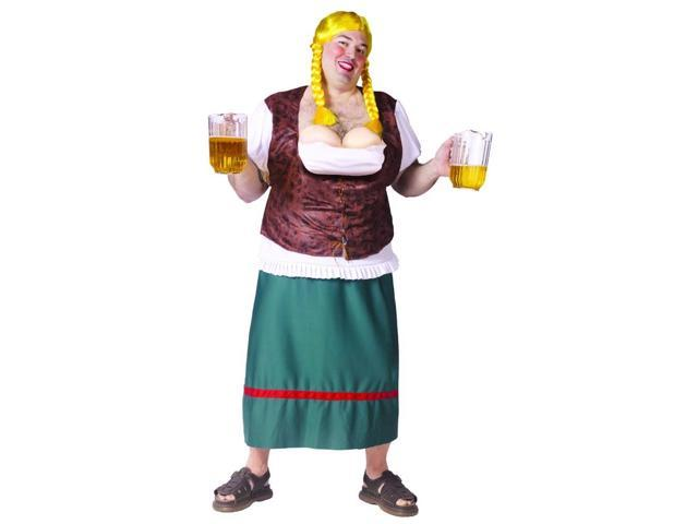 Beer Girl Male Funny Costume Adult Plus Size